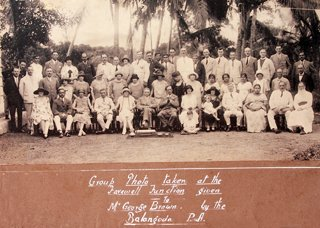 Edwin Balasooriya (seated 2nd from left) with the caption handwritten by EB
